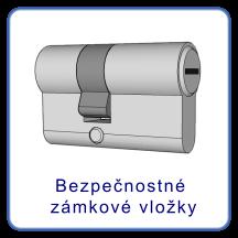 Bezpečnostné zámkové vložky